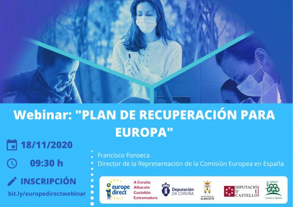 """Webinar """"Plan de Recuperación para Europa"""""""
