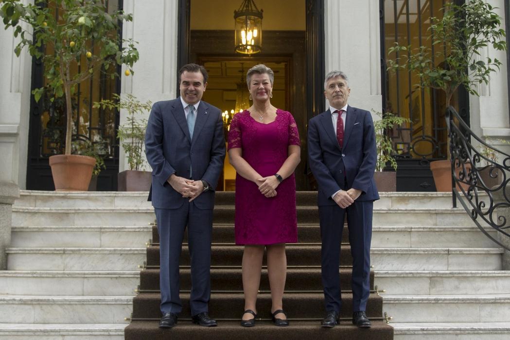 El vicepresidente de la Comisión Europea y la comisaria de asuntos de interior,visitan España a partir dellunes 17 de febrero