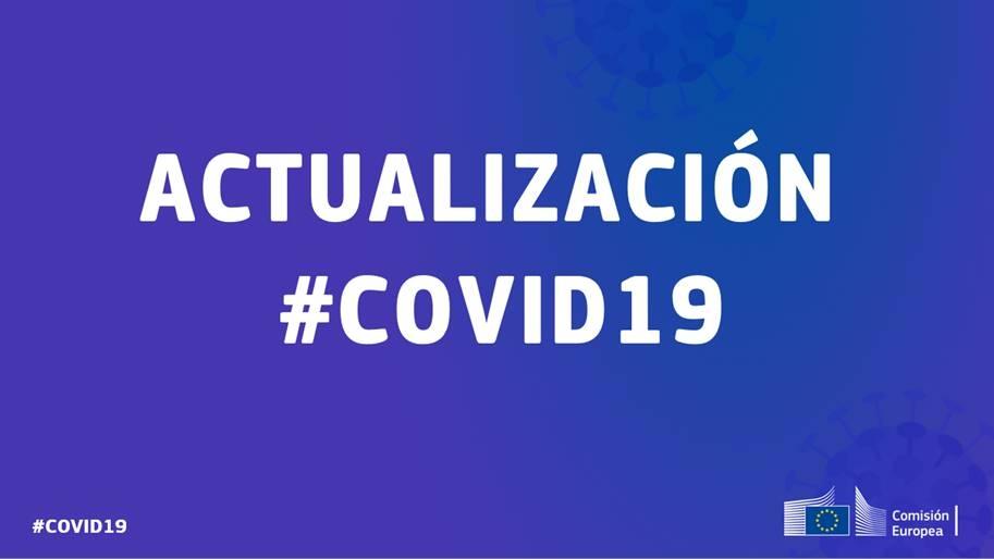 Acciones adoptadas por la Comisión Europea en relación al COVID19