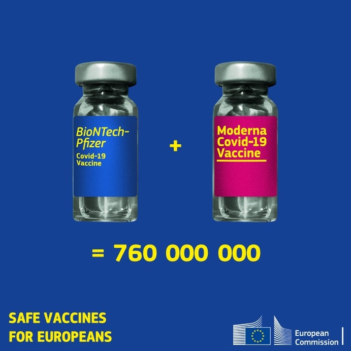 La Comisión propone la adquisición de hasta 300 millones de dosis adicionales de la vacuna de BioNTech-Pfizer