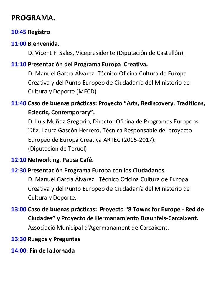 Jornada de Financiación de EUROPE DIRECT junto con PUNTO EUROPEO DE CIUDADANÍA y EUROPA CREATIVA