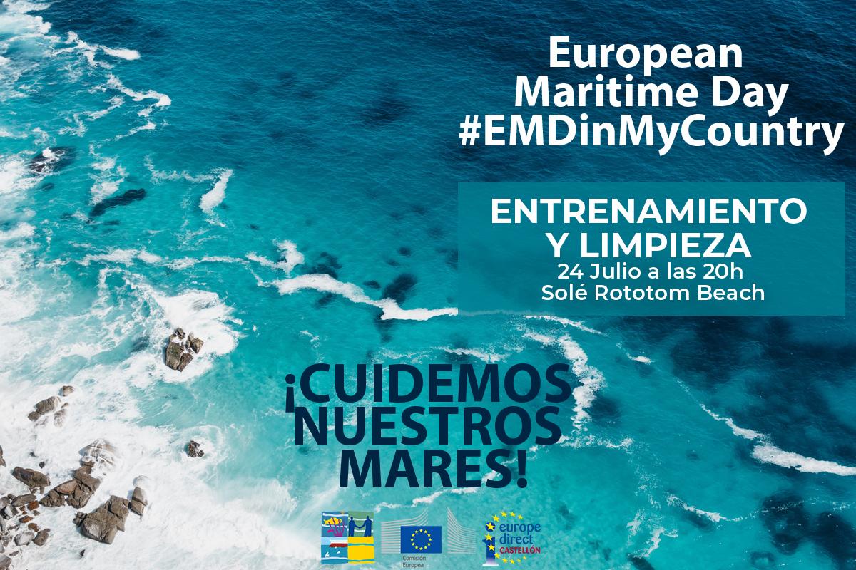 ENTRENAMIENTO DE NADO Y UNA LIMPIEZA DEL MAR COMO CELEBRACIÓN DEL EUROPEAN MARITIME DAY