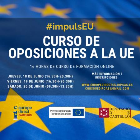 Programa provisional del Curso de Oposiciones a la UE (16 horas) - #impulsEU