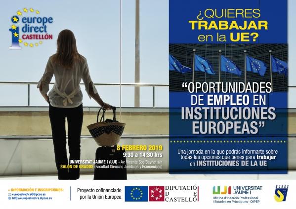Jornada formativa: Oportunidades de empleo y movilidad en Instituciones Europeas
