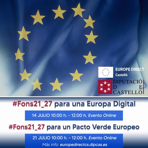 Ciclo informativo #FonsUE21_27. Una Europa Digital y Pacto Verde Europeo.
