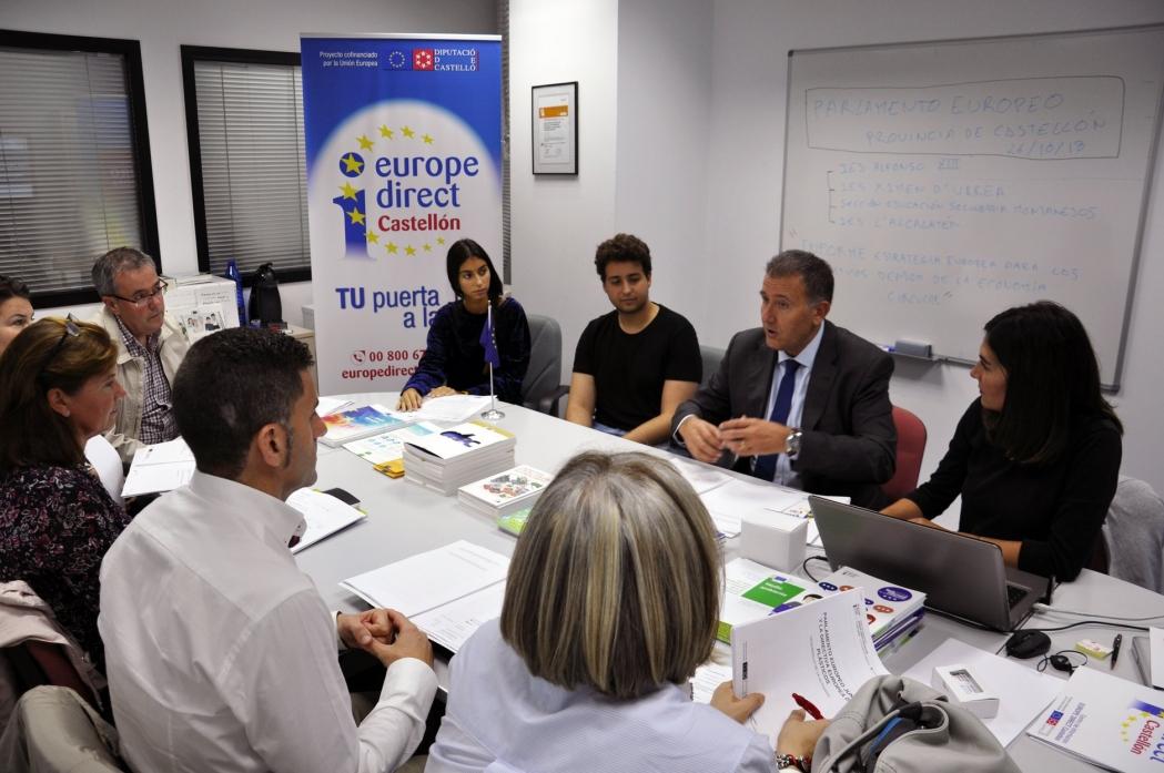 Presentación Parlamento Europeo Junior: Provincia de Castellón