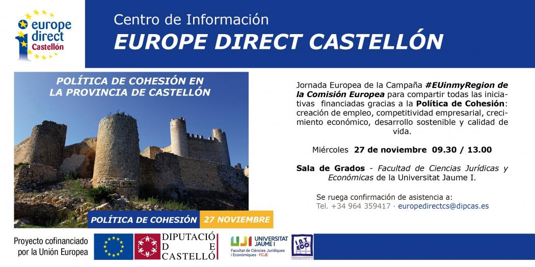 Jornada Política de Cohesión en la provincia de Castellón