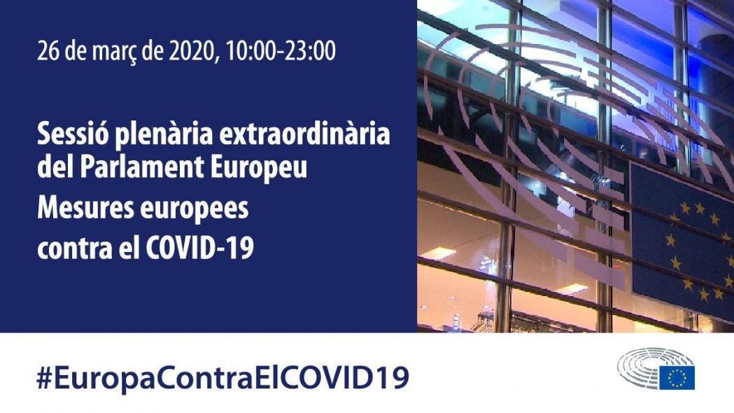 Ple extraordinari Parlament Europeu: mesures per fer front al coronavirus