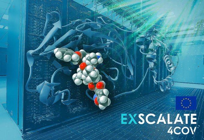 Coronavirus: El uso de la supercomputación europea permite a un proyecto de investigación financiado por la Unión Europea anunciar resultados prometedores de cara a un posible tratamiento