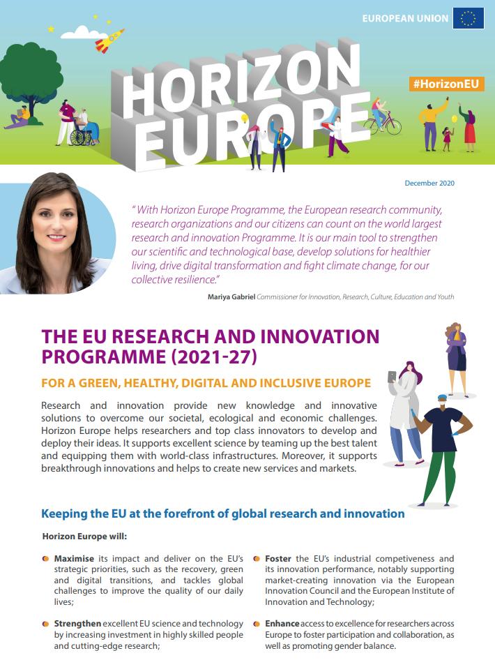 Acuerdo político sobre Horizonte Europa, el próximo programa de investigación e innovación de la UE