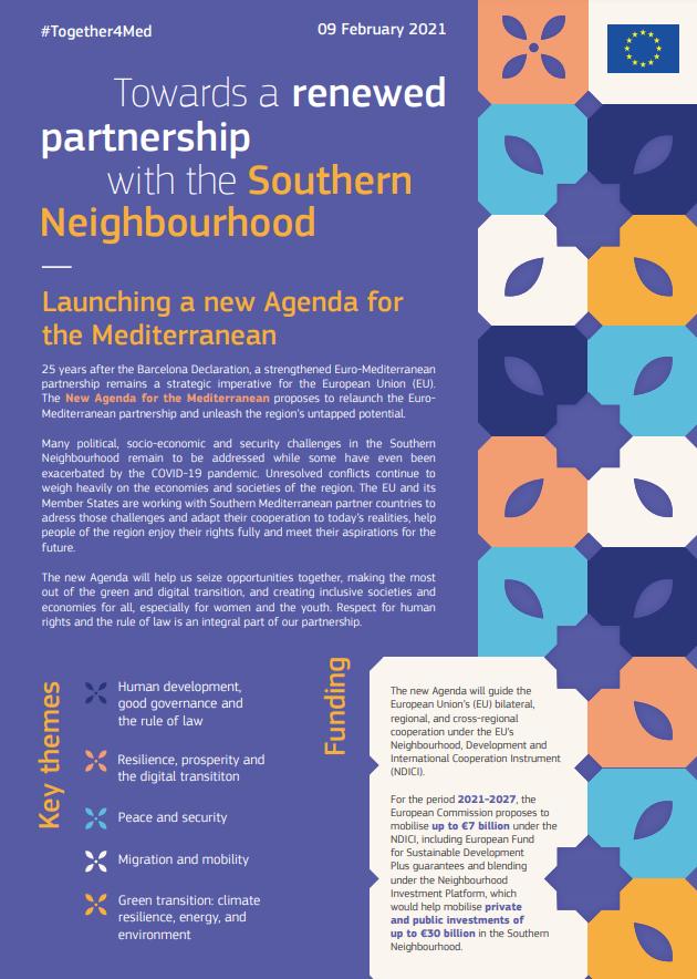 Países vecinos meridionales: La UE propone una nueva Agenda para el Mediterráneo