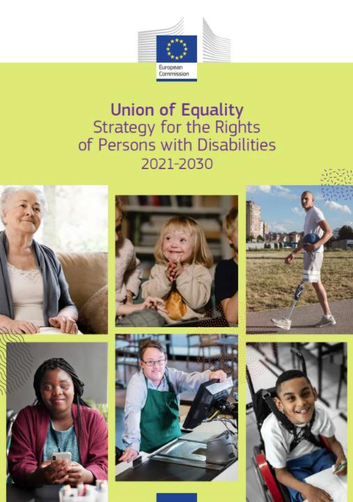 Unión de la Igualdad: la Comisión Europea presenta la Estrategia sobre los derechos de las personas con discapacidad 2021-2030